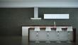 Küchendesign - Küche im Loft weiss