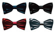Set of bow ties.