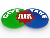 Give and Take Share Venn Diagram Giving Taking