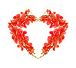 Red orchid heart