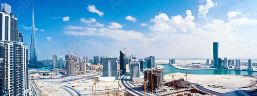 Aluminium Dubai Panoramic image of Dubai city