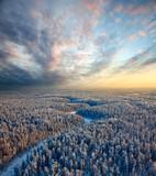 Fototapeta las - podróż - Widok z lotu ptaka