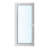 plastics glasses door on the white background - vector