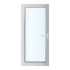 plastics glasses door on the white background - vector