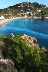 Beautiful small bay in Ibiza Spain
