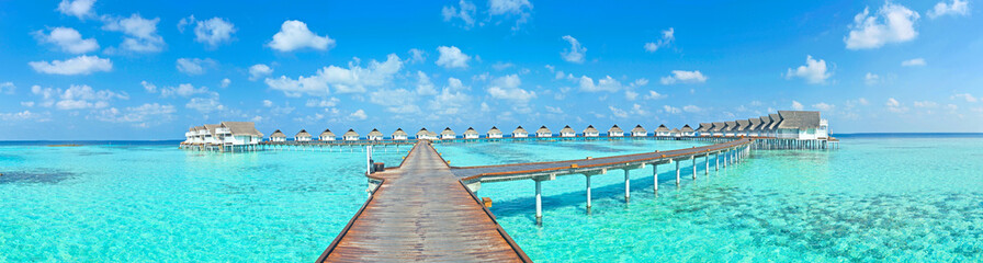 Maldive water villa - bungalows panorama
