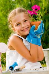 Lovely little gardener