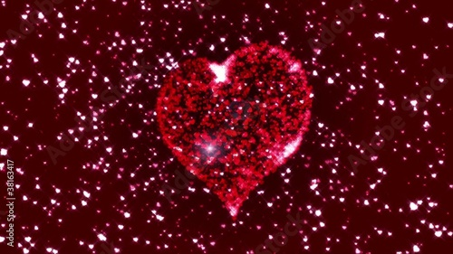 thousands of little hearts give birth to a big heart