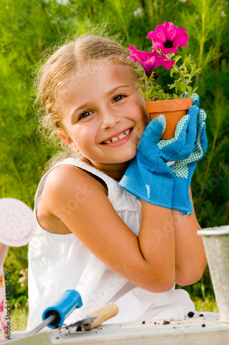 Lovely little gardener