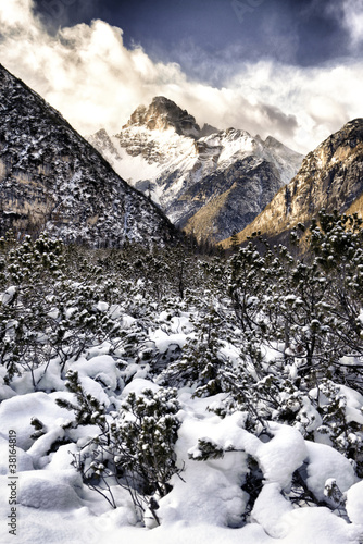 Dolomiti mountain in HDR, Belluno, Italy, Europe