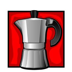 classic espresso kettle clip art