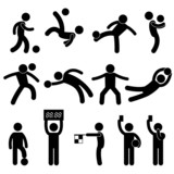 Football Soccer Goalkeeper Referee Linesman Icon Pictogram