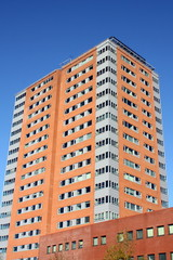 Modern apartment buildings iin Groningen (Netherlands)