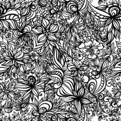 beautiful vector seamless pattern with swirls