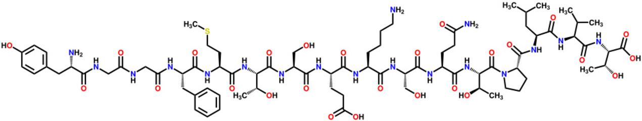 α-endorphin structural formula