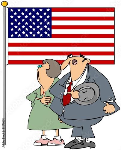 Couple Pledging Allegiance