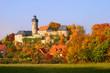 canvas print picture - Burg Zweritz im Herbst, Franken