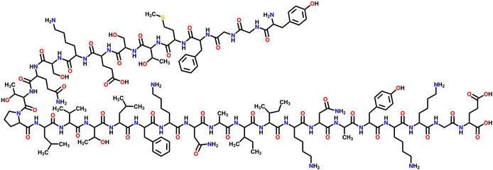 β-Endorphin structural formula