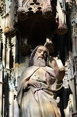 Statue of saint in Stephansdom Vienna