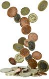 uk coins falling - 38172697