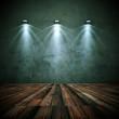 Wohndesign - Dekowand grunge mit Lampen 2