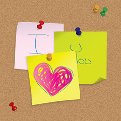 I Love You - handwritten post-it note