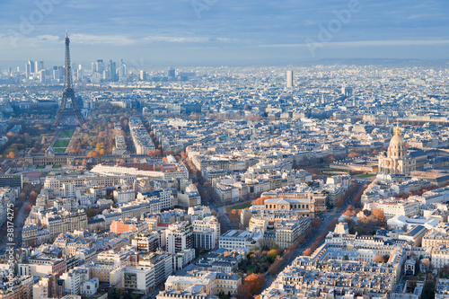 above view on Paris