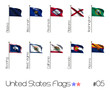 Collection of US Flags