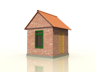 A brick house on the mirror surface №2