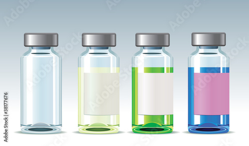 Glass Medicament Bottles