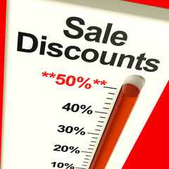 Fifty Percent Sale Discounts Showing Bargain Closeout Selloff