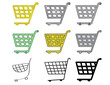 set of shopping cart vector icons