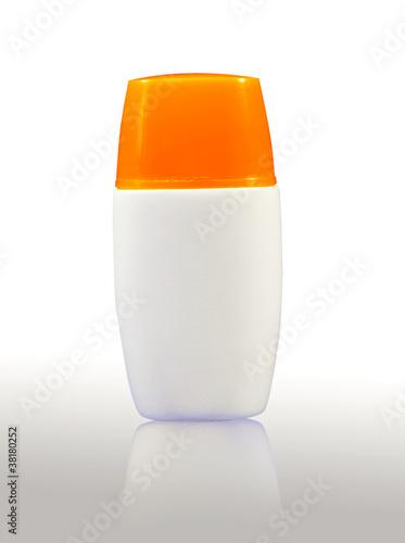 Plastic bodylotion bottle
