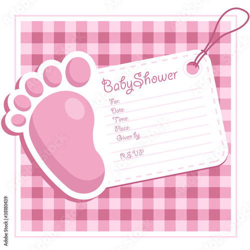 Pink Baby Feet Invitation