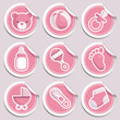 Pink Baby Stickers