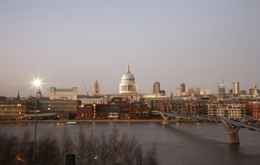 St Paul's Cathedral over Thames River