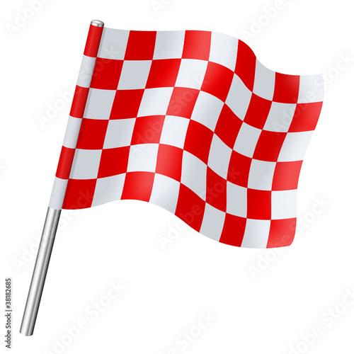 Drapeau damier rouge et blanc photo libre de droits - Carrelage damier rouge et blanc ...