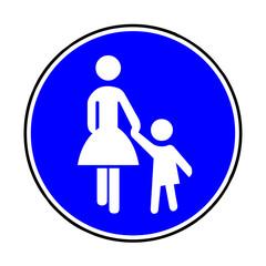 Verkehrsschild - 239 Sonderweg Fußgänger
