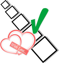 valentine day or wedding - check list Symbol