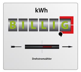 Drehstromzähler -Billigstrom