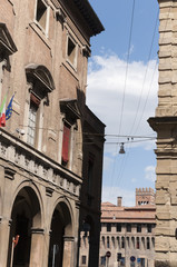 arch in the beautiful city of Bologna in Italy