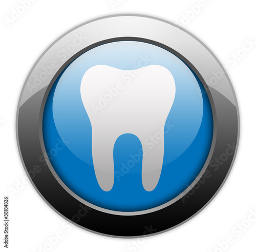 "Metallic Orb Button ""Dental Medicine / Dentistry"""