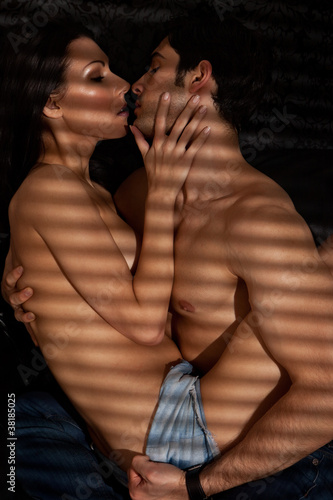 Lovers In Erotic Embrace