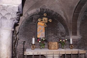 church altar in Modena Italy