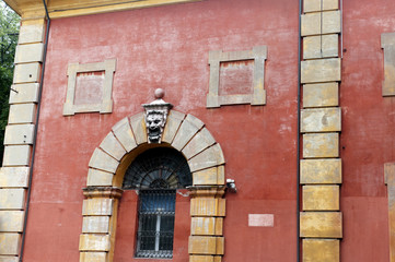 Historic Archway in the city of Modena Italy