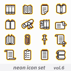 neon icon set(vector, CMYK)