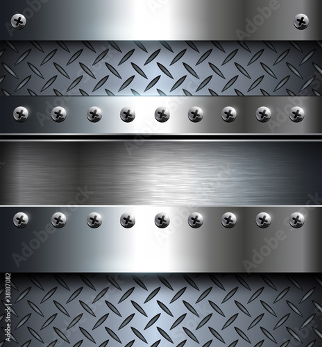 Abstract technology background, metallic