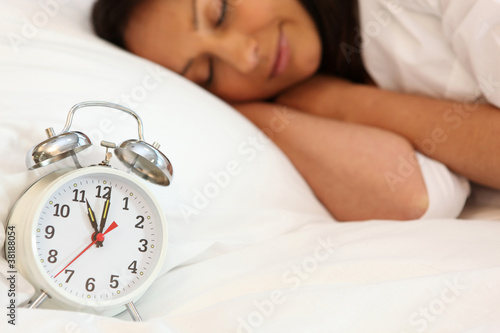 woman having a lie in