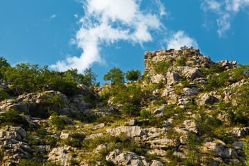 Cliff in Canyon of Cetina River near Omis, Croatia