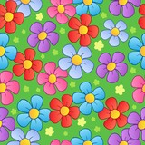 Flowery seamless background 1